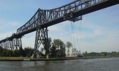 Kanalbauwerk mit Schwebefähre