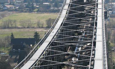 Kanalbrücke: Obergurt der Mittelöffnung