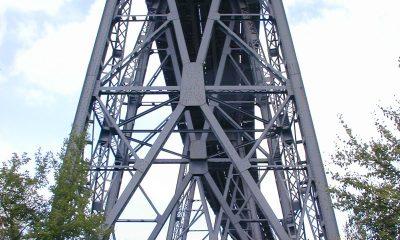 Gerüstpfeiler der Rampenbrücke