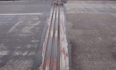 Fahrbahn mit Übergangskonstruktion