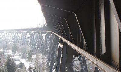 Gerüstpfeiler und Überbauten der nördlichen Rampenbrücke