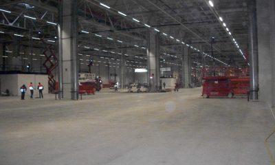 Fertigstellung Hallenkonstruktion