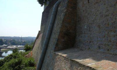 Ansicht sanierter Stützwandbereiche