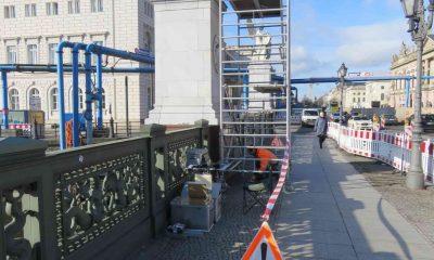 Schwingungsmessung an Figurengruppe Schlossbrücke Berlin