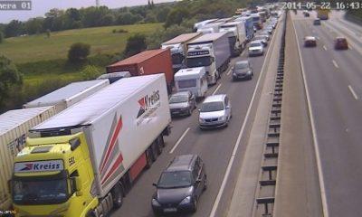 Typische Verkehrssituation auf der A1