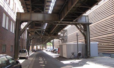 Untersicht des U-Bahn Viaduktes
