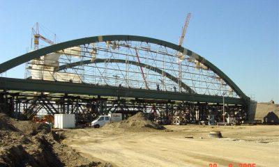 Montage der Brücke