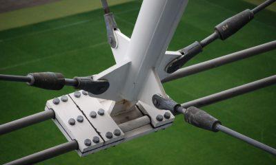 Knotenpunkt Seilunterspannung Bogenbinder