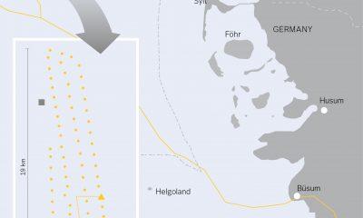 Übersicht des Offshore Windparks DanTysk - Bildquelle: Vattenfall Europe Windkraft GmbH