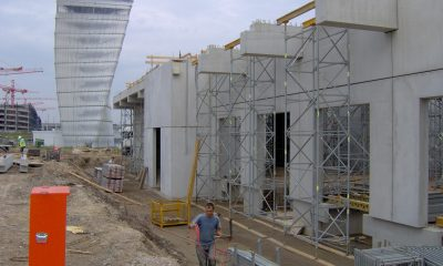 Montage Stahlbetonfertigteilwände