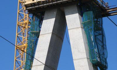 Betonieren des Pylons