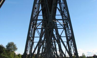 Untersicht Eisenbahnhochbrücke Rendsburg