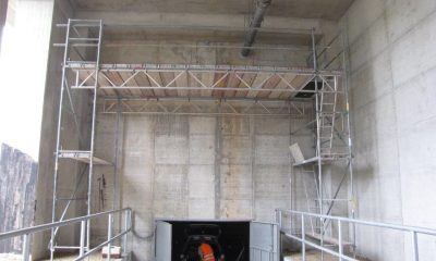 Ansicht Rückwand Widerlager / Anschlussfuge Überwerfungsbauwerk