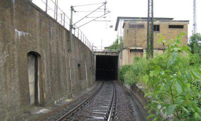 Ansicht Stützwand und Tunnelportal des Verkehrstunnels II