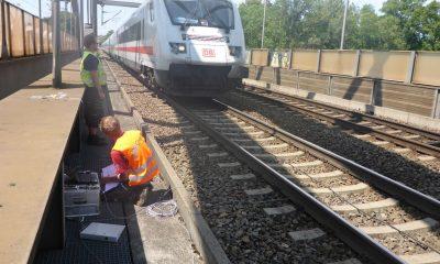 EÜ Lech - Messung unter Zugverkehr