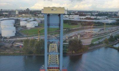 Ansicht Pylon Kattwykbrücke