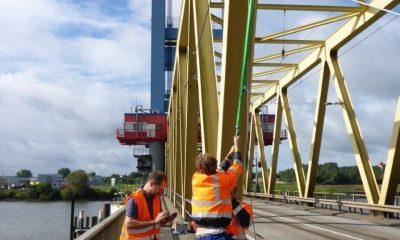 Anregung des Pylons mit Hilfe eines Stahlseils