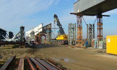 Montage der Vorlandbrücke