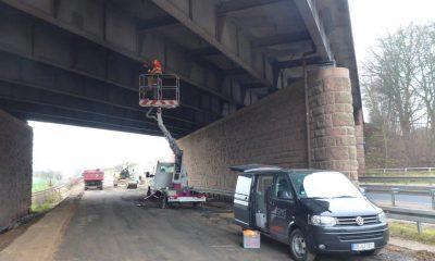 Installation der Messtechnik am Bauwerk