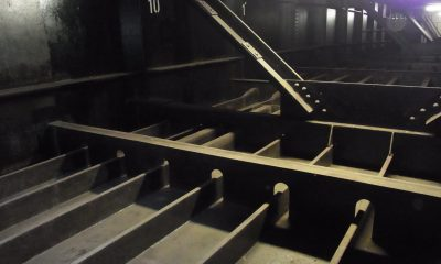 im Inneren des Stahlhohlkastens
