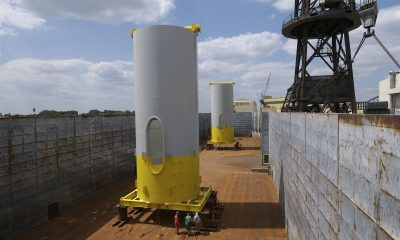 Unterer Turmschuss für Offshore Windpark Alpha ventus (2008) - Bildquelle: Stiftung Offshore Windenergie/DOTI/2008
