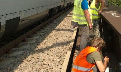 EÜ Verbindungskanal - Messung unter Zugverkehr