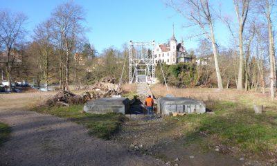 Zuwegung auf der Seite Stadtwald nach dem Hochwasser