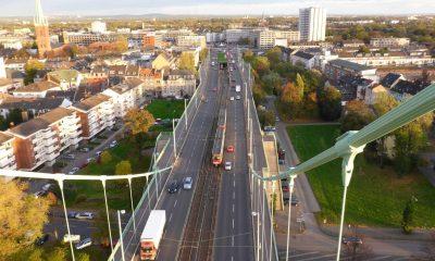 Blick auf Mülheim vom Pylon