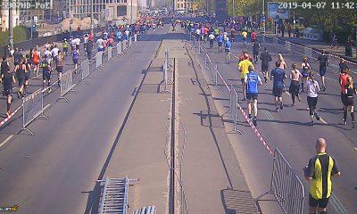 Läuferfeld auf beiden Fahrbahnen der Neuen Gertraudenbrücke